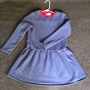 Blue fleece play dress